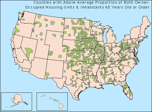 Potential Reverse Mortgage Fraud, by US County